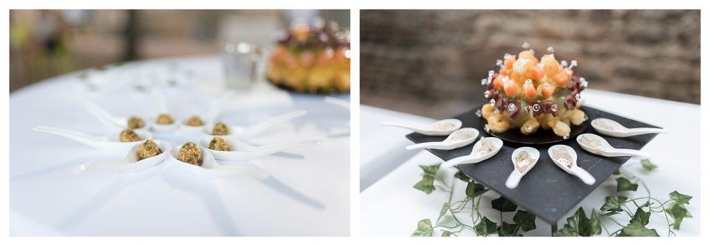 cocktail de mariage château ravatys