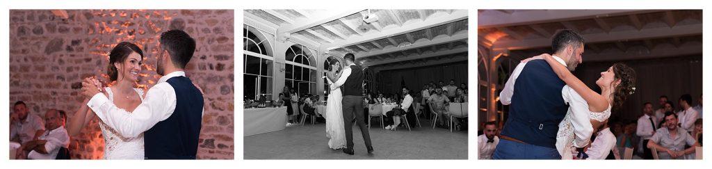 entrée bal mariés château des ravatys