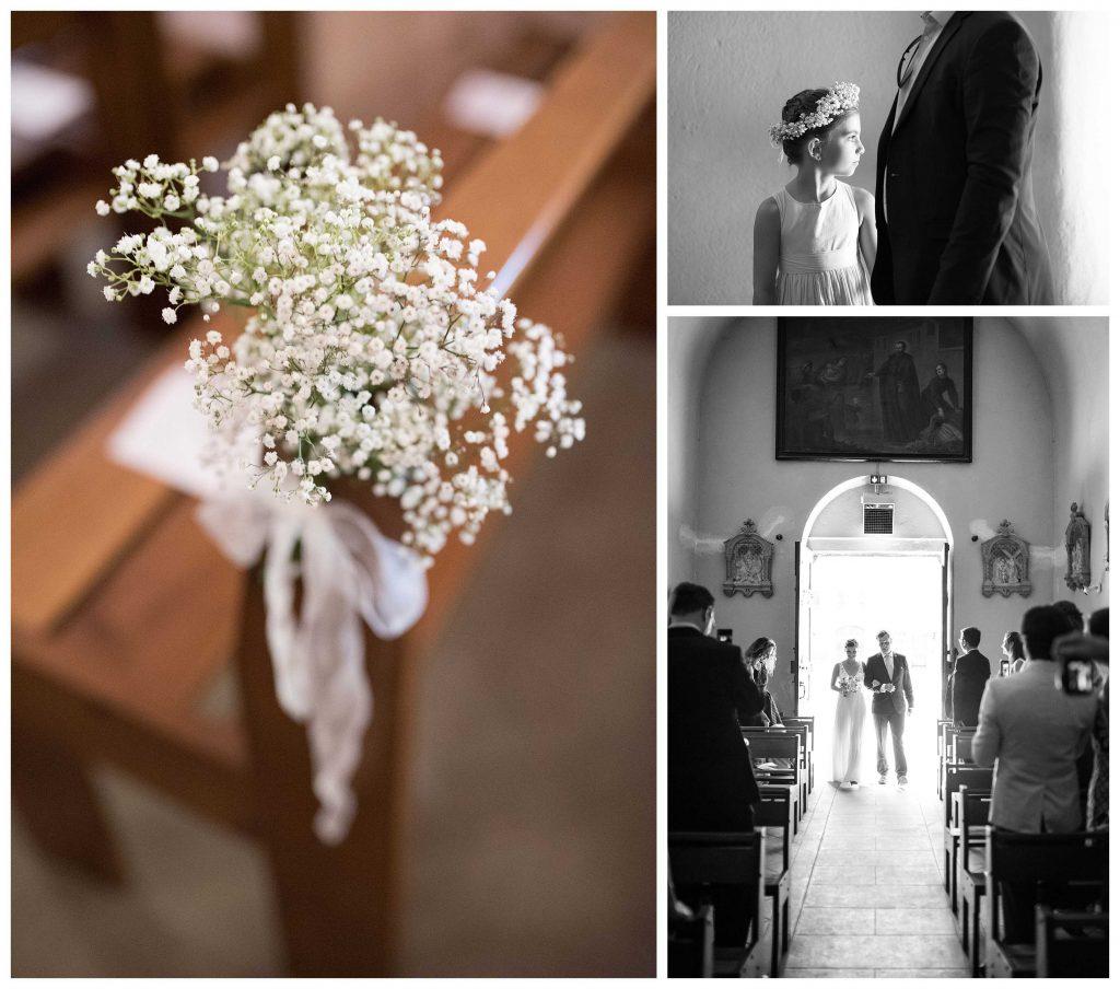 l'entrée de la mariée dans l'eglise
