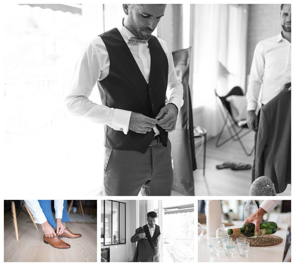 marié qui s'habille costume