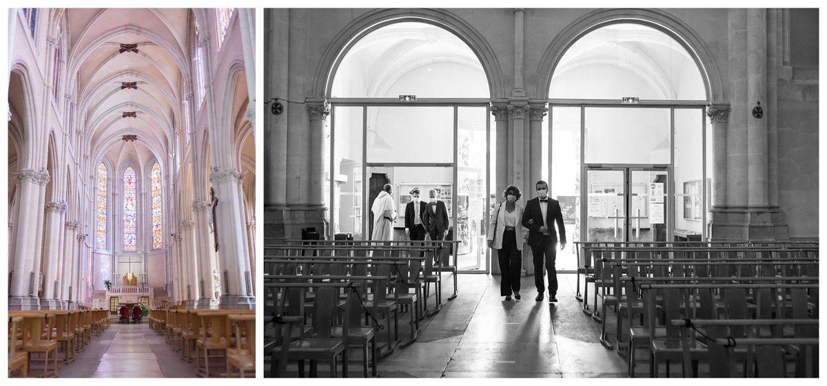 photo mariés église