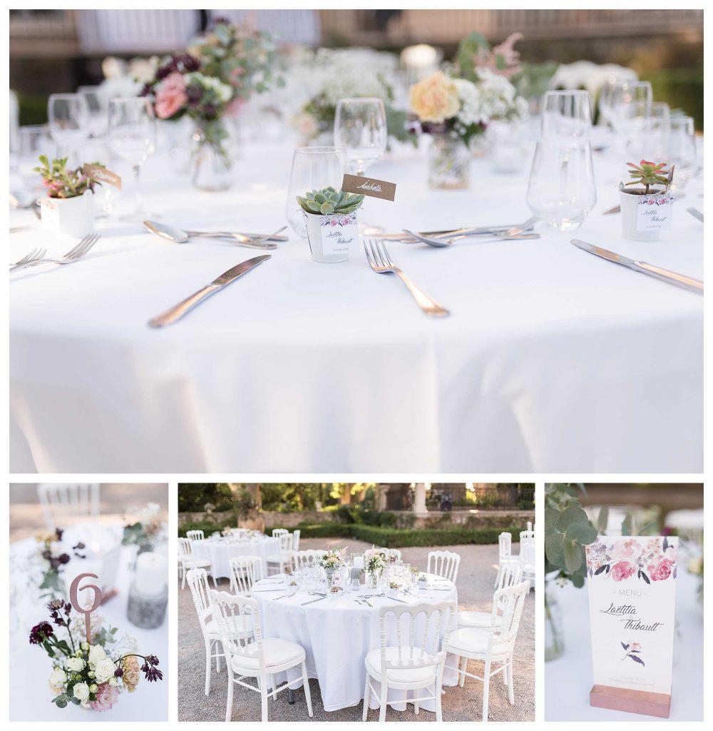 une belle décoration de table mariage