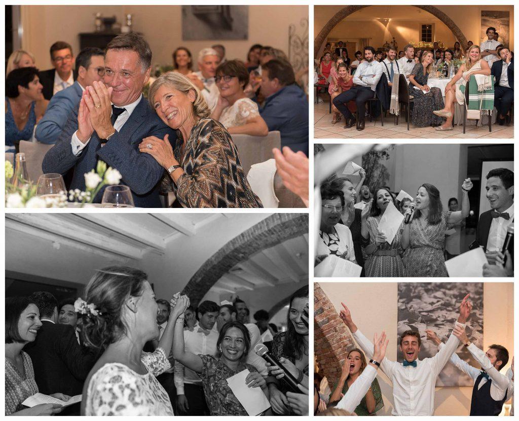 une soirée de mariage dans le beaujolais